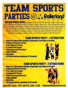 team sports parties