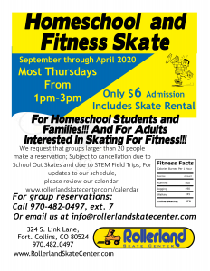 Homeschool and Fitness Skate